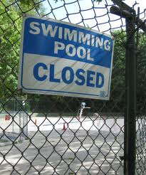 pools closed